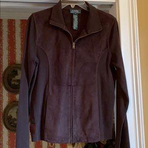 Ralph Lauren suede and knit dark brown blazer
